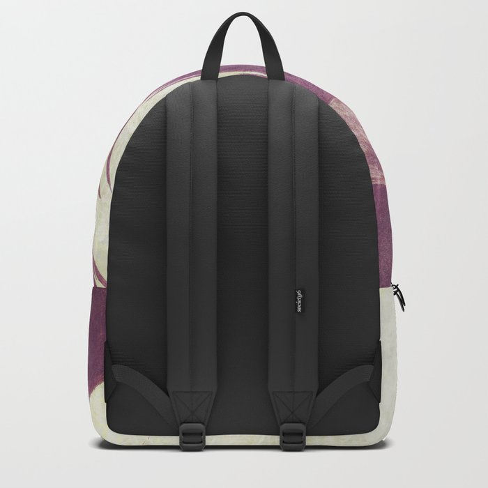 Purple vintage girl with raven Backpack