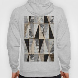Marble Triangles - Black and White Hoody