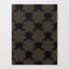 Floral Boho Arabesque Mandalas Canvas Print