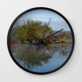 Peaceful Reflection Landscape Wall Clock