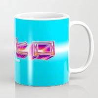 superhero Mugs featuring Superhero  by brisseaux