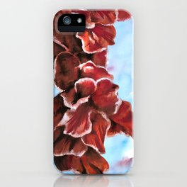 Gladioli watercolour iPhone Case