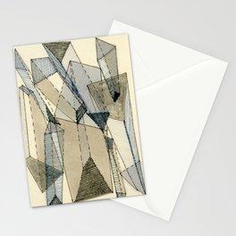 Blue Grey Transparency Stationery Cards