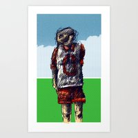 football Art Prints featuring football by jenapaul