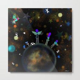 New World for Angels Galaxy Fairy people  Metal Print