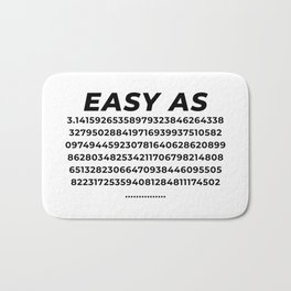Easy As Pi Numbers Bath Mat