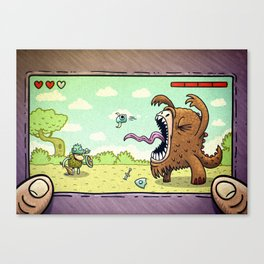 Game and Watch Canvas Print