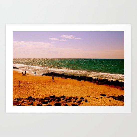 playing in summertime Art Print