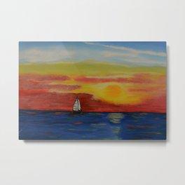 Sailing the beautiful Sicilian Sea Metal Print