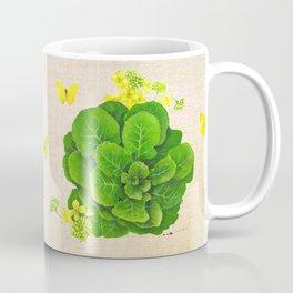 Collard Greens on Linen Coffee Mug
