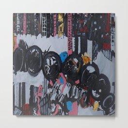 Jagged City, an acrylic artwork Metal Print