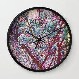 Dogwood Mixed Tones Wall Clock