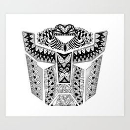Autobot Mandala Art Print