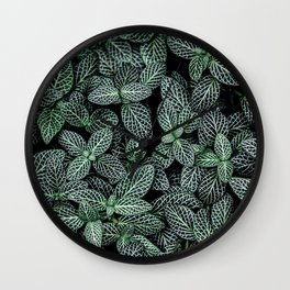 Leaves In The Deep Wall Clock