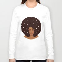daisies Long Sleeve T-shirts featuring Daisies by Samantha Wynell-Mayow