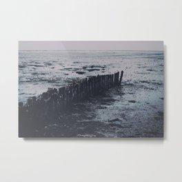 Wadden sea beach   Moddergat, Friesland, the Netherlands photo print Metal Print