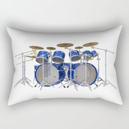 Blue Drum Kit Rectangular Pillow