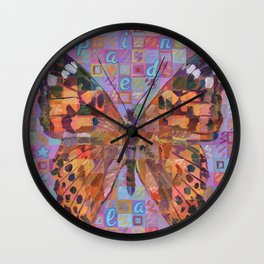 Butterfly (Painted Lady) Wall Clock
