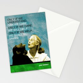 Jane Goodall Quote 1 Stationery Cards