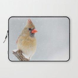 Female Northern Cardinal Laptop Sleeve