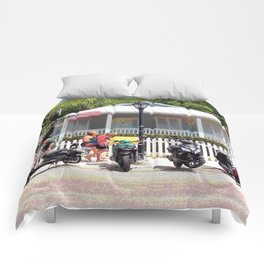 Motor Bikes and Picket Fence Comforters