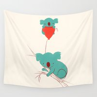 balloon Wall Tapestries featuring Red Balloon by Jay Fleck