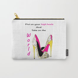 Girl Power Quote High Heels Carry-All Pouch