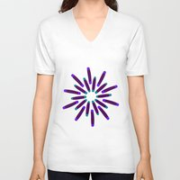 fireworks V-neck T-shirts featuring Fireworks  by Alexandra Aguilar