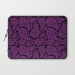 Paisley (Purple & Black Pattern) Laptop Sleeve