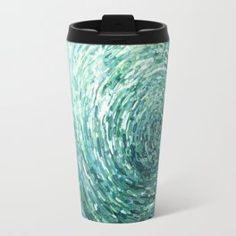 Blue Waves Reflecting Travel Mug