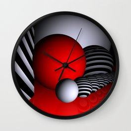 go red -3- Wall Clock