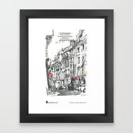 """Inma Serrano, """"Rue du Colisée, Paris"""" Framed Art Print"""