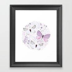Purple Butterflies Framed Art Print