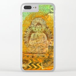 Floating Buddha Clear iPhone Case