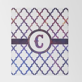 Galaxy Monogram: Letter C Throw Blanket