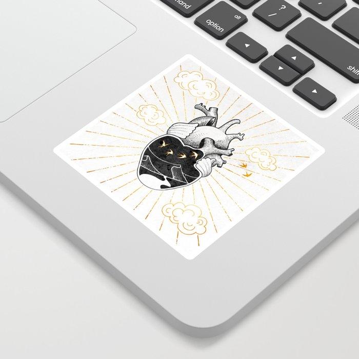 Desert Heart Inktober :: More Magick Sticker