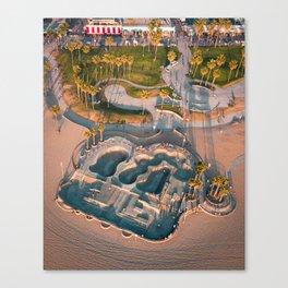 Venice Skatepark Canvas Print