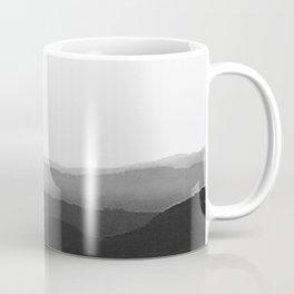 Dreamy Mountain Range | Serene Calm Black White Ombre Noir Daydream Sunset over the California Hills Coffee Mug
