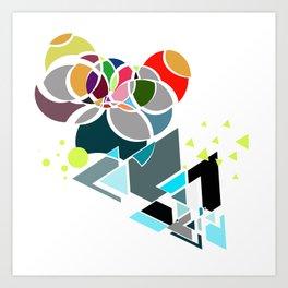 Geometricity Art Print