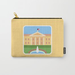 """Trumpation - White """"Golden"""" House Carry-All Pouch"""
