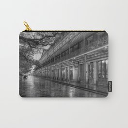 New Orleans, French Quarter, Jackson Square black and white photograph / black and white photography Carry-All Pouch