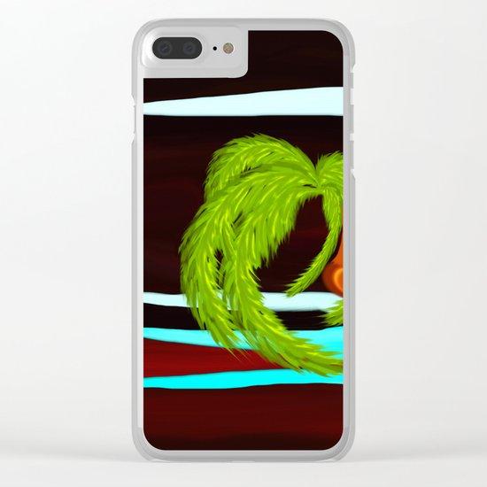 night beach Clear iPhone Case