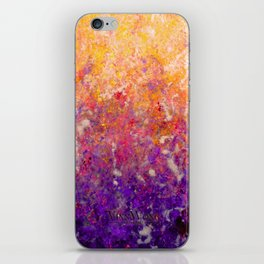 Abstract Art in Sunset Palette Purple iPhone Skin