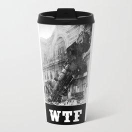 WTF Train Wreck Travel Mug