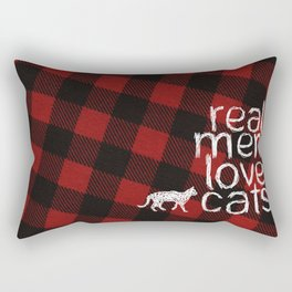 Real Men Love Cats Rectangular Pillow