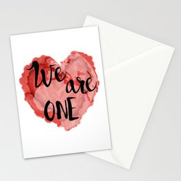 We Are One -Global Community Stationery Cards