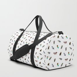 the living bird is not its labeled bones Duffle Bag