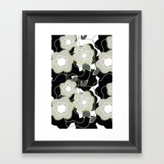 Mysterious Night - Flowers by SewMoni Framed Art Print