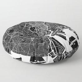 Tokyo - Minimalist City Map Floor Pillow