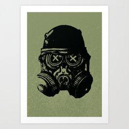 Gas mask skull Art Print